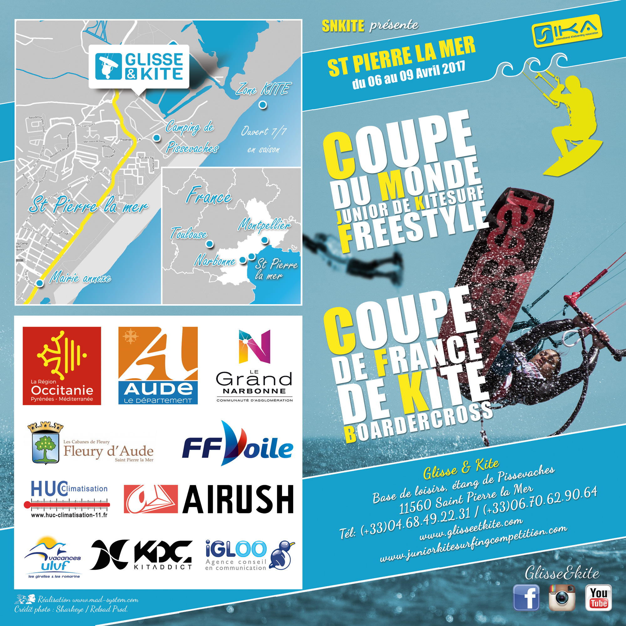 Programme Coupe du Monde Junior de Kiteboard Freestyle 2017